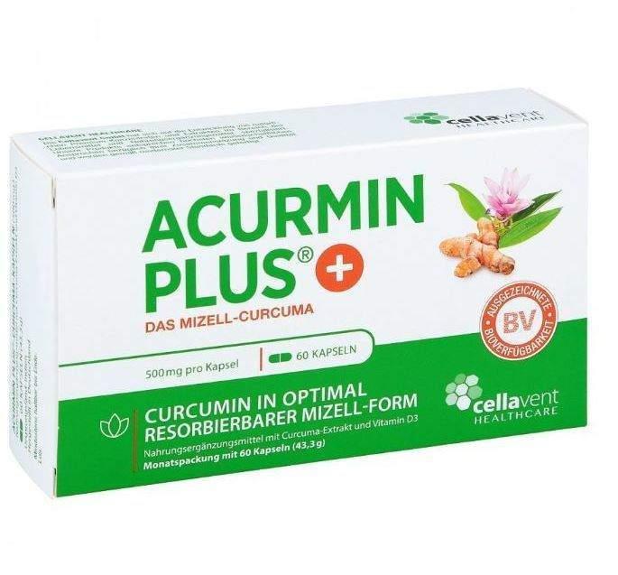 Acurmin Plus Das Mizell - Curcuma 60 Weichkapseln