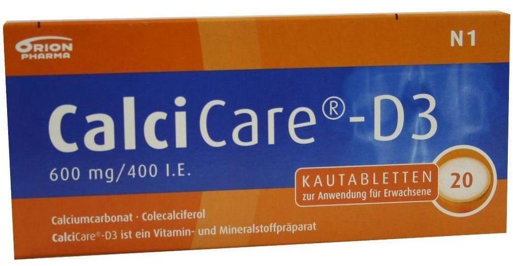Calcicare D3 20 Kautabletten