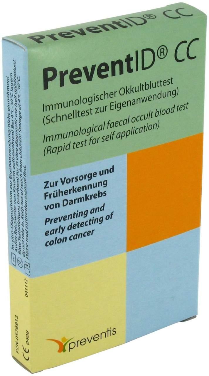 PreventID CC Okkultbluttest Darm 1 Test
