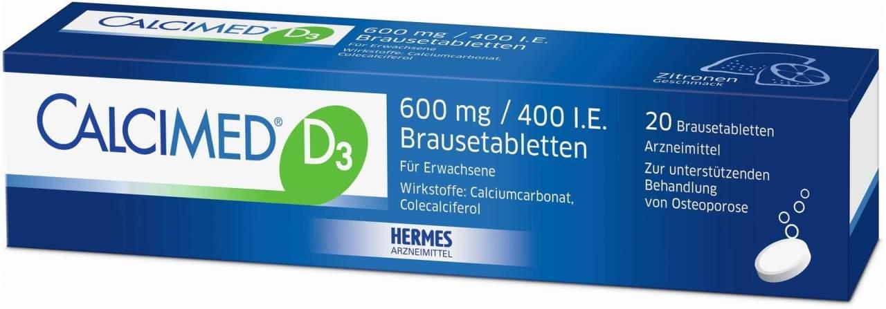 Calcimed D3 600 mg 400 I.E. 20 Brausetabletten