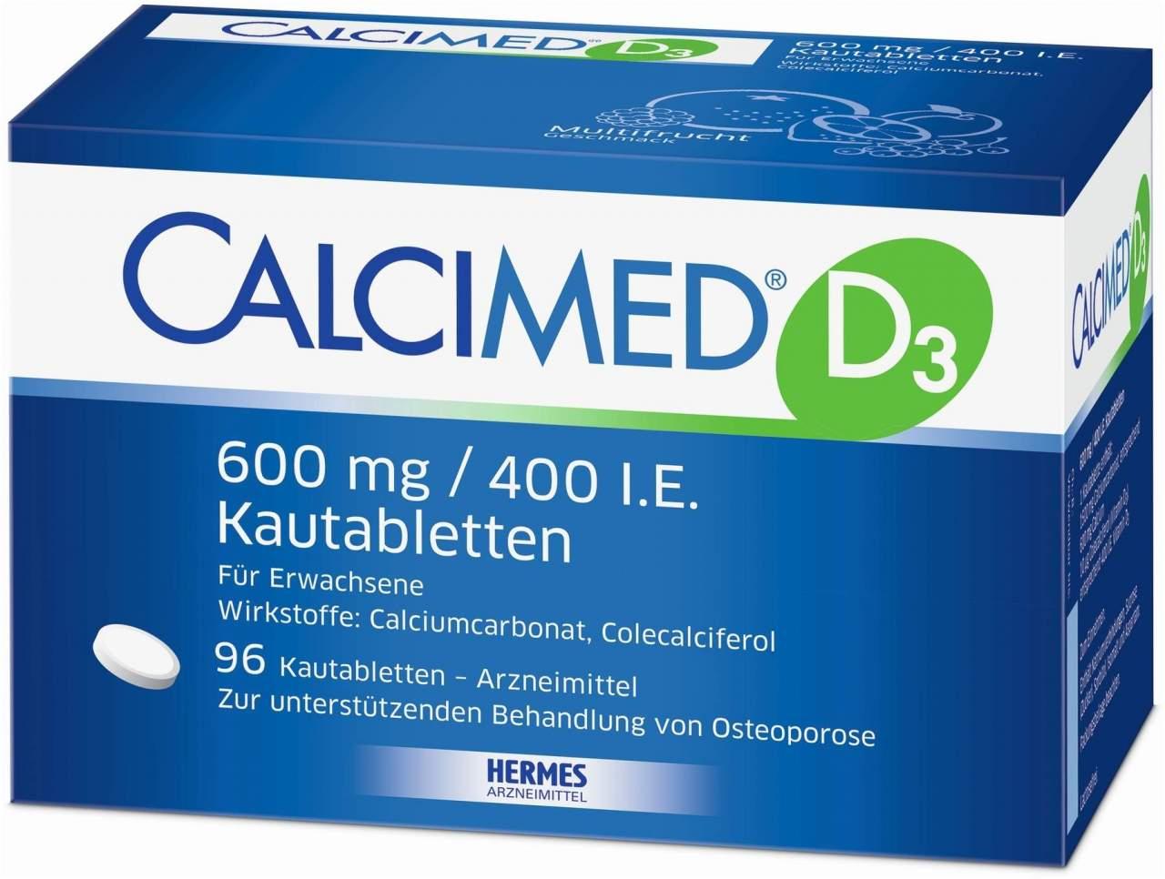 Calcimed D3 600 mg 400 I.E. 96 Kautabletten