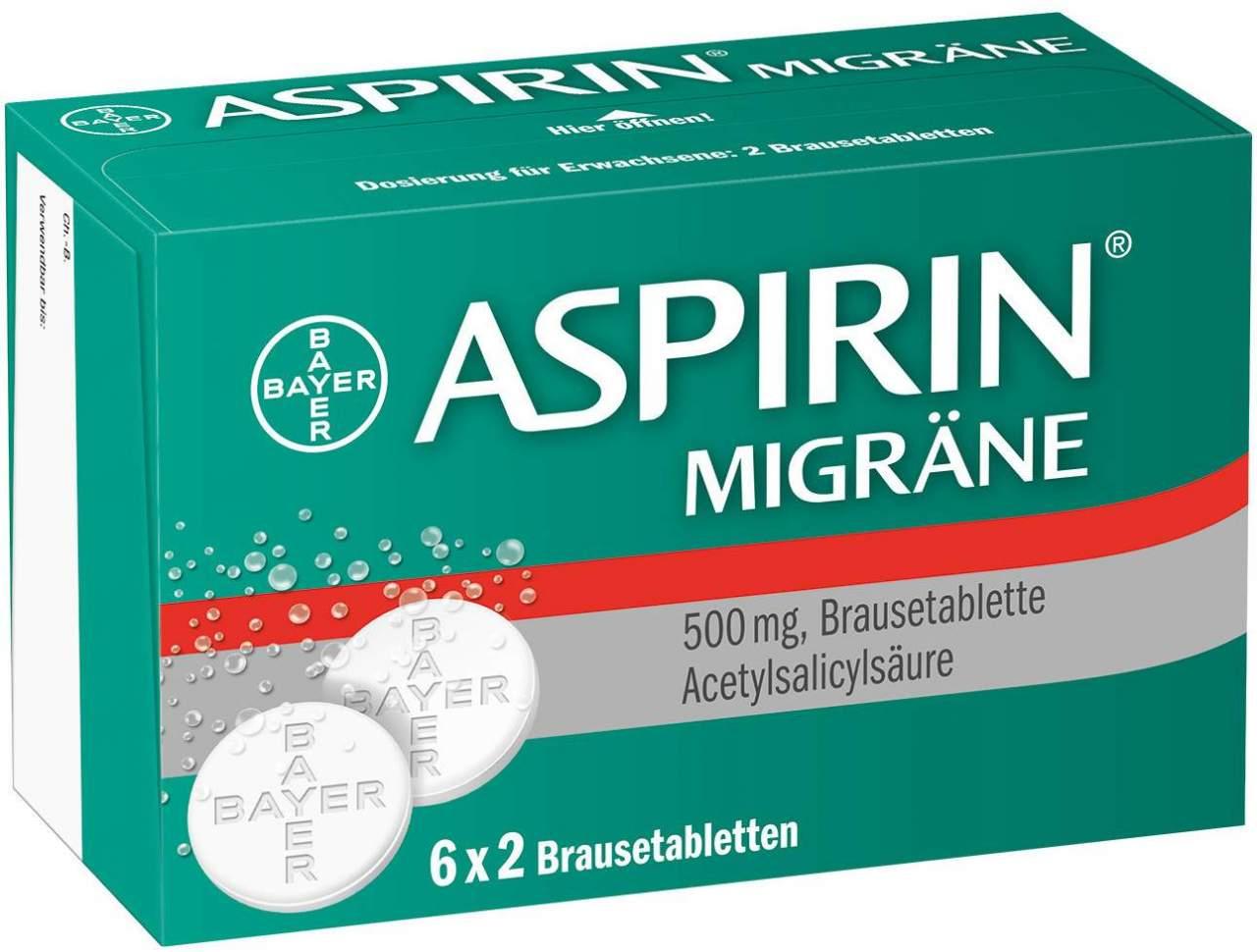Aspirin Migräne 12 Brausetabletten